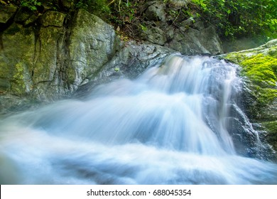 Small waterfall Flowing down the rocks