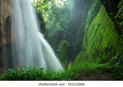 Small waterfall in the forest - Bali, Indonesia