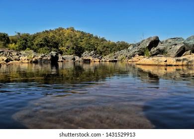 A small waterfall lake in Maharashtra near Peta hill area..