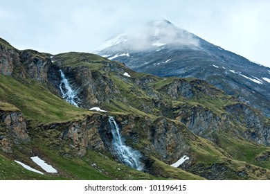 Small waterfall near Grossglockner High Alpine Road.