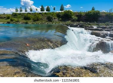 Small waterfall near Podgoritsa in Montenegro