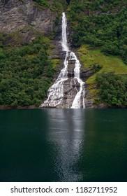 Small waterfall in Norway, Eidfjord.
