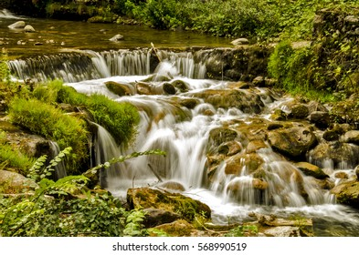 small waterfall of a river
