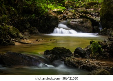 small waterfall in small river