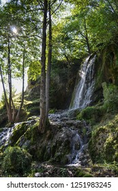 Small waterfall in rural Serbia