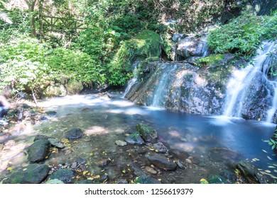 Small waterfall in Yangmingshan,Taipei ,Taiwan