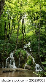 Small waterfalls in the forest
