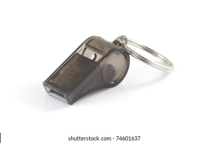 Small whistle on a white background.