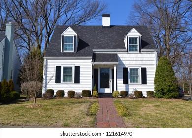 Small White American Home