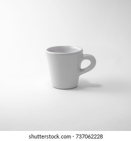 Small White cup isolated on white background