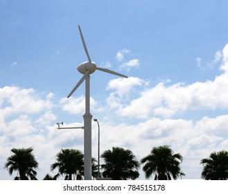 Small Wind turbine at the Esperance Wind Farm, Okinawa Japan