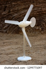 Small windmill with natural background