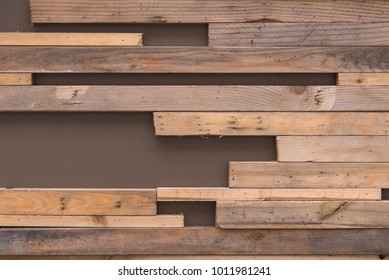 Small wood planks textures natural patterns for background.