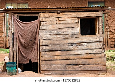 Small wood shack in Africa