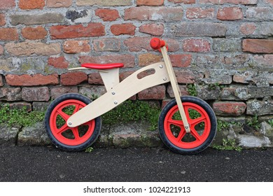 Small Wooden Balance Bicycle For Kids