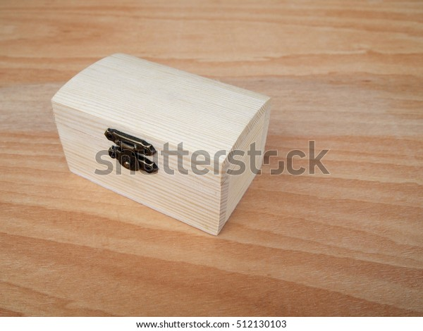 Small Wooden Box On Wood Grain Stock Photo (Edit Now) 512130103