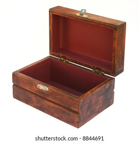 Small Wooden Box opened