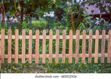 Small wooden fence
