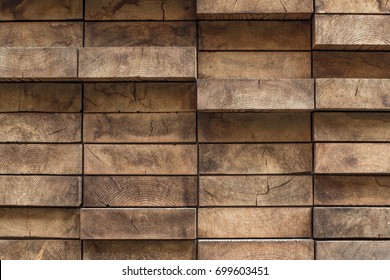 Small wooden panels of natural colors, background, texture. Wood plank wall texture