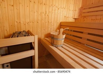 Small wooden sauna
