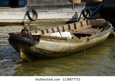 Small Working boats on the   Mekong River,  at the Cai Rang floating market,  Vietnam