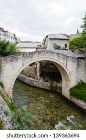 A smaller bridge in Mostar's old town
