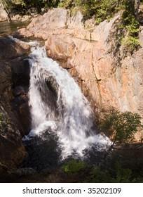 Smalls Falls water cascades