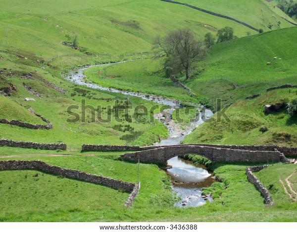 Smardale packhorse bridge near Kirkby Stephen, Cumbria, UK