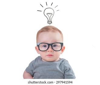 Smart baby with glasses