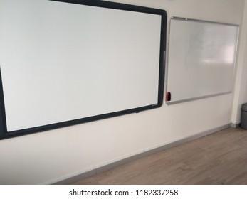 Smart board and whiteboard