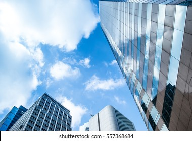 Smart building background against with blue sky