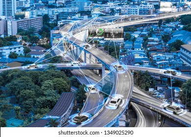Smart cars with automatic sensor driving on metropolis with wireless connection