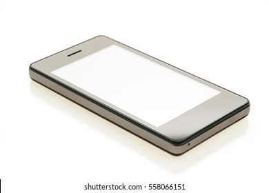 Smart cell or moblie phone device isolated on white background