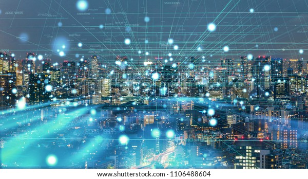 Smart city concept. IoT(Internet of Things).