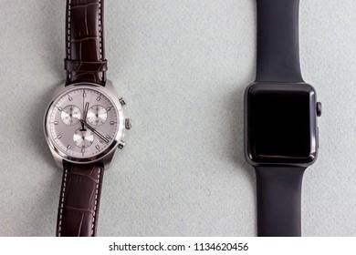 smart and classic wrist watch