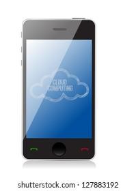 Smart Cloud computing technology concept illustration design over white