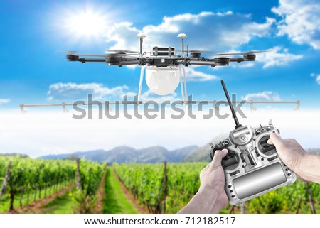 Smart Farmer Use Radio Remote Control Stock Photo (Edit Now