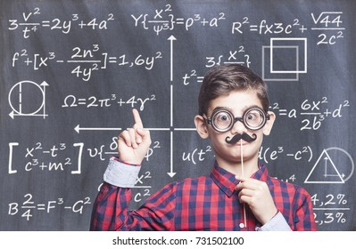 Smart funny boy. Education concept