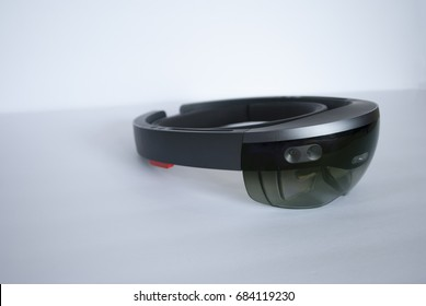 smart glasses side view on white