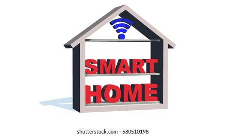 smart home concept - 3D illustration - isolated on white background