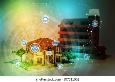 smart house abstract concept