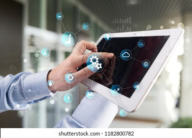 Smart industry and automation concept. Internet of things. IOT, Technology concept.