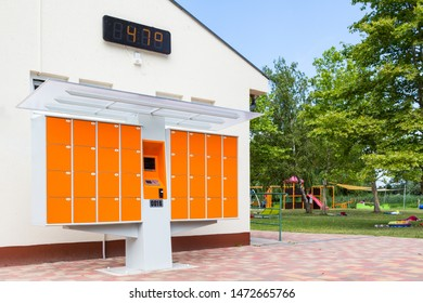 Smart lockers for bathers at beach
