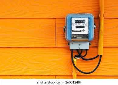 An Smart Meter in soft light .