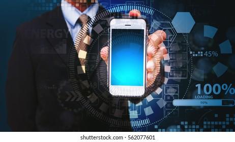 Smart phone download data