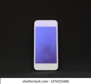 smart phone isolated black background