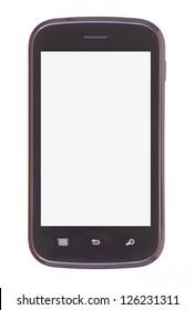 Smart phone isolated on white background
