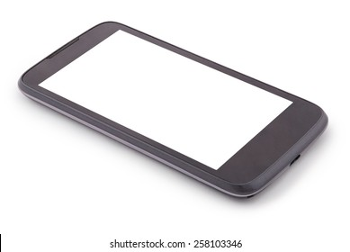 Smart Phone isolated on white. Two clipping path inside separately for phone and screen.