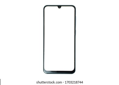 Smart phone isolated white LCD.