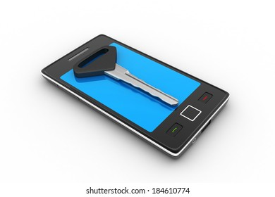 Smart phone with key